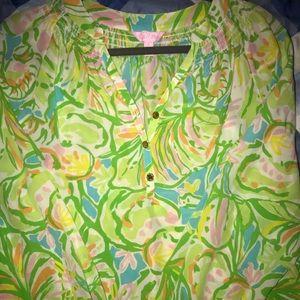 Lilly Pulitzer long sleeve Elsa silk blouse